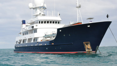 The Pangaea Ocean Explorer, a state-of-the-art deep water marine research vessel, remains in Queensland waters.