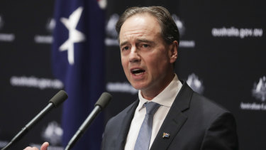 """Health Minister Greg Hunt said there had been a """"genuine consolidation"""" of the virus."""
