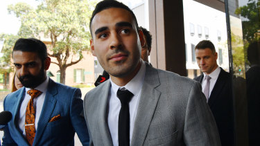 Tyrone May outside Parramatta Local Court last week.
