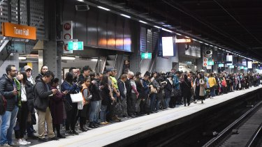 Sydney's rail network is under pressure from a surge in demand for services.