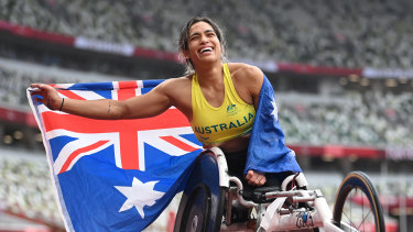 Madison de Rozario won two gold medals at the Tokyo Paralympics.