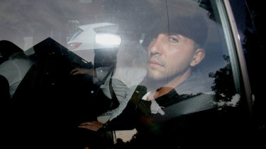 Purana Taskforce detectives bring Victoria's most senior suspected organised crime boss Rocco Arico into custody  on March 5, 2015.