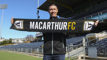 Mark Milligan is unveiled as Macarthur FC's inaugural marquee signing.