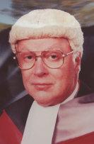 Justice David Hunt presiding over the Milat trial.