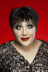 Ashley as Liza Minnelli.