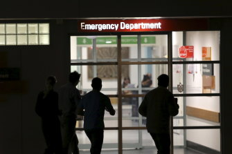 Four frontline healthcare workers at Mercy Hospital's emergency department in Werribee have tested positive to COVID-19.