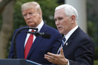 Mike Pence, pictured with Donald Trump, says the US is on a similar trajectory to Italy.