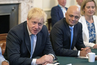 Sajid Javid (right), pictured with Boris Johnson in 2019, has tested positive for COVID-19.