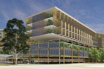 An artist's render of the new Melton hospital.