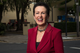 Clover Moore campaigning in Redfern for another term as Sydney lord mayor.