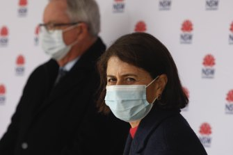 NSW Premier Gladys Berejiklian is expecting more than 100 cases on Monday.