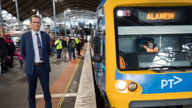 Metro chief executive Raymond O'Flaherty on Thursday afternoon at Southern Cross Station.