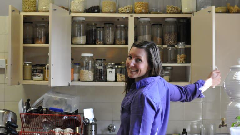 Karla Hooper - AKA Earth Girl - in her Perth hills kitchen.