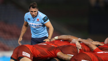 Disappointment: Nick Phipps scored early for the Waratahs but there was little more joy for the playmaker.