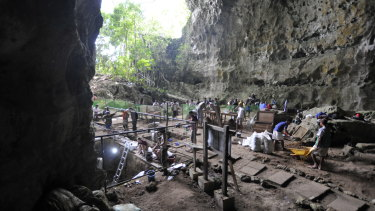 The dig site in Callao Cave on Luzon Island in the Northern Philippines where Homo luzonensis was discovered.