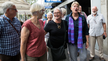 Long march to legal victory: Gloucester residents who were jubilant after their win in the Land and Environment Court of Friday - a win with potentially large impacts.