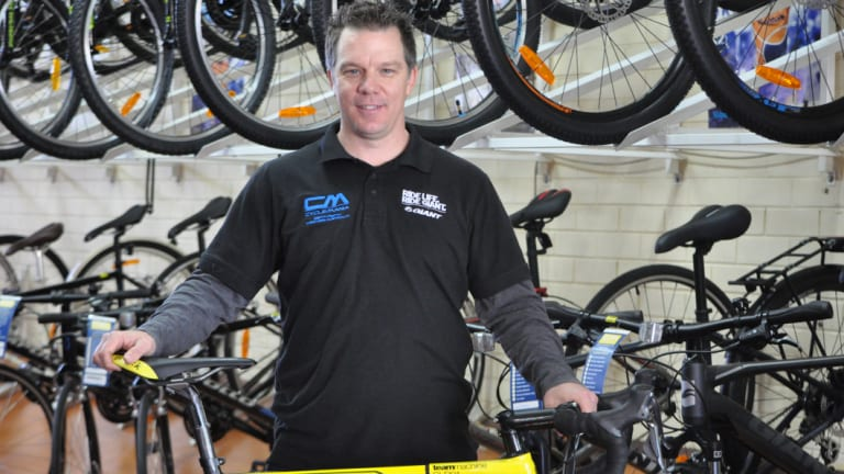 Wayne Evans owns Cycle Mania in North Perth and is thrilled with the knock-on effects of the Tour.