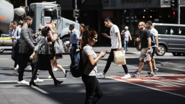 Distracted pedestrians risk being hit by vehicles while crossing the road, the NRMA has warned.