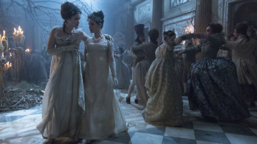 Jonathan Strange & Mr Norrell's, from left, Lady Pole (Alice Englert) and Arabella (Charlotte Riley).