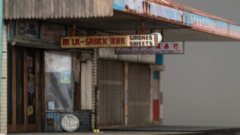 Smith is yet to see the iconic Olympia milk bar in person, but has spent hundreds of hours building it from photos.