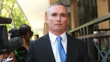 Former Labor MP Craig Thomson outside court in 2014.