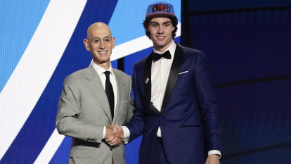 'It means the world': Josh Giddey joins Oklahoma City with the sixth pick in the NBA draft