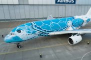 ANA All Nippon Airways first Airbus A380 superjumbo