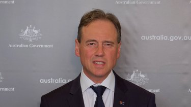 Federal Health Minister Greg Hunt.