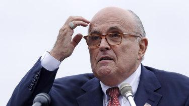 Trump laywer Rudy Giuliani.