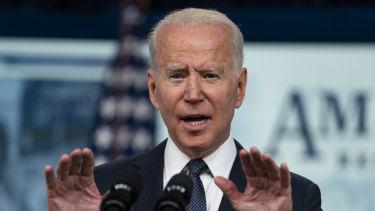 Under fire: US President Joe Biden.