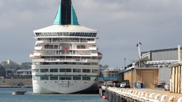 A member of the crew of the cruise ship Artania who was in his early 40s died on Thursday.