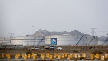 Storage tanks are seen at the North Jiddah bulk plant, an Aramco oil facility, in Jiddah, Saudi Arabia.