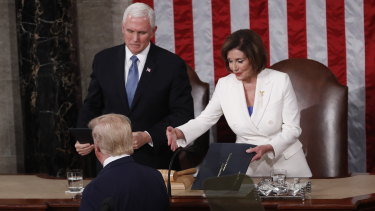 The moment Trump refused to shake Speaker of the House Nancy Pelosi's hand.