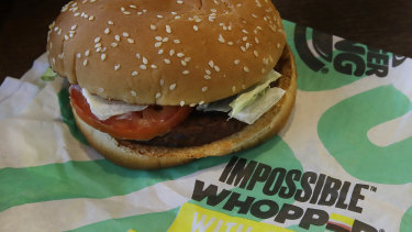 The Impossible Whopper is not so meatless after all, a customer claims.