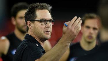 Carlton coach David Teague.