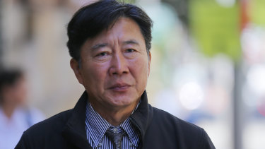 Chan Han Choi outside the King Street Supreme Court in Sydney.