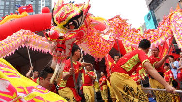 Lunar New Year celebrations in Chatswood.