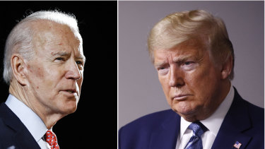 Joe Biden and Donald Trump are running against each other for the US presidency.