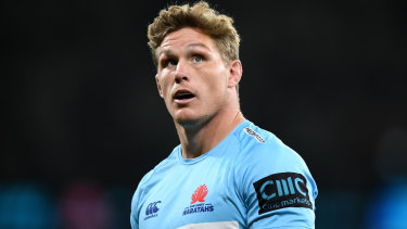 """""""We certainly put a lot of pressure on the Bulls"""": Michael Hooper."""