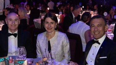NSW Premier Gladys Berejiklian at the Sydney Institute annual dinner at The Star on Wednesday night.