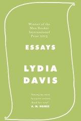Essays by Lydia Davis.