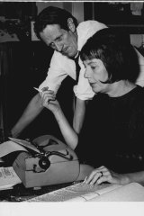 The highly collaborative George Johnston and Charmian Clift work on the  ABC TV serial of My Brother Jack in 1965.