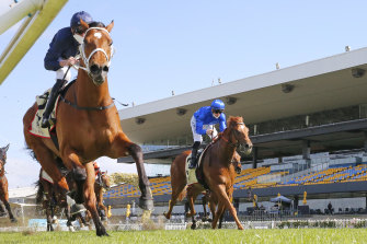 Nash Rawiller and Home Affairs take the Heritage Stakes at Randwick on Saturday.