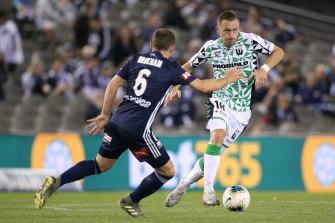 Besart Berisha, right, was instrumental in the win over his former Victory team.