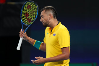The classic Nick Kyrgios was back in a heavy defeat.