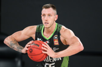 Mitch Creek in action for the South East Melbourne Phoenix in their win over the Brisbane Bullets in February.