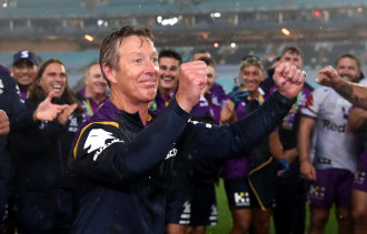 Five more years ... Craig Bellamy will remain with the Storm until at least 2026.