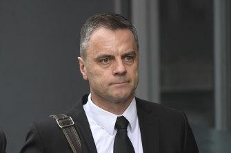 Commander Stuart Bateson pictured outside court in 2019.