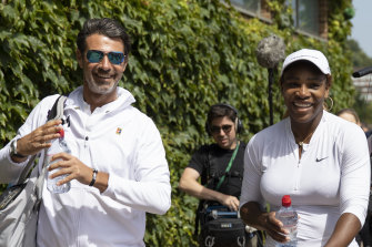 Patrick Mouratoglou (left) says lower-level players shouldn't be forced to struggle financially.