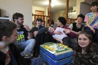 Darren and Tess Falconer with their six kids, Eric, Nic, Jorjia, Liam, Patrick and Chris.